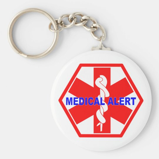 MEDICAL ALERT ID SYMBOL KEYCHAIN