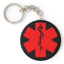 Medical alert keychain