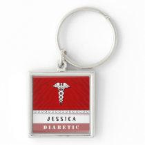 Medical Alert Keychain - Custom Name - Diabetic