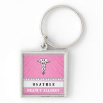 Medical Alert Keychain - Customize - PINK