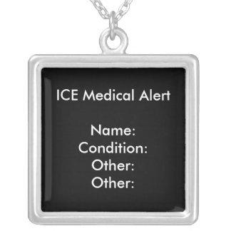 MEDICAL ALERT NECKLACE (black) ~ Customize!