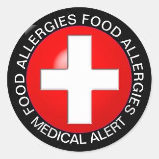 Medical Alert - Red Classic Round Sticker