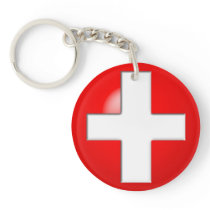 Medical Alert - Red Keychain