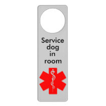 Medical Alert Service Dog Door Hanger