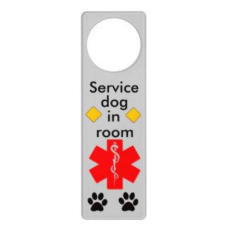 Medical alert service dog door hanger
