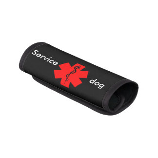 Medical alert service dog leash wrap luggage handle wrap