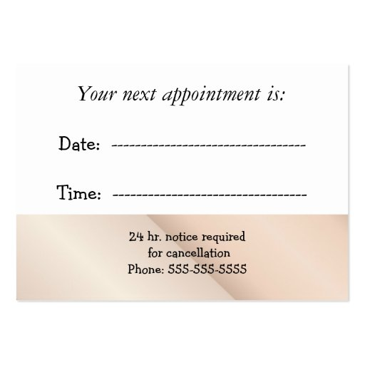 Medical Appointment Business Cards : Zazzle