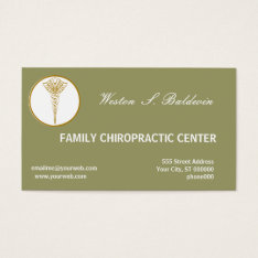 Medical Appointment Doctor Custom Color Sage Green Business Card at Zazzle
