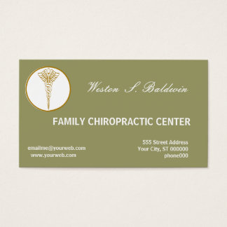 Medical Appointment Doctor Custom Color Sage Green Business Card