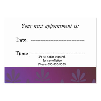 Medical Appointment Modern Floral Large Business Card