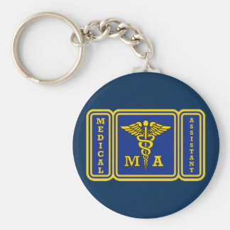 Medical Assistant Basic Round Button Keychain
