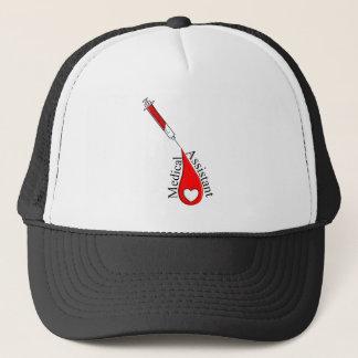 Medical Assistant Blood Drop Art Trucker Hat