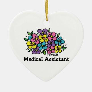 Medical Assistant Blooms 1 Ceramic Ornament