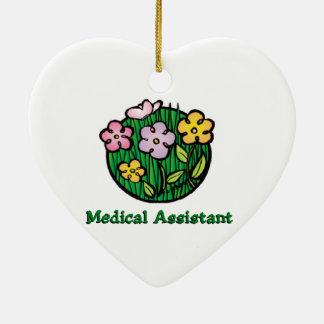 Medical Assistant Blooms 2 Ceramic Ornament