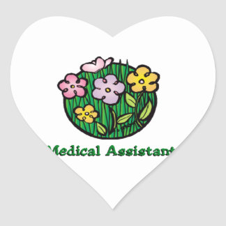 Medical Assistant Blooms Heart Sticker