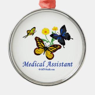 Medical Assistant Butterflies Metal Ornament