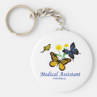 Medical Assistant Butterfly Keychain