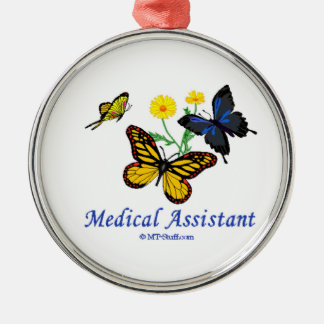 Medical Assistant Butterfly Metal Ornament