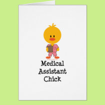 Medical Assistant Chick Greeting Card