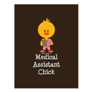 Medical Assistant Chick Postcard