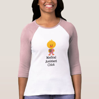 Medical Assistant Chick Raglan Tee