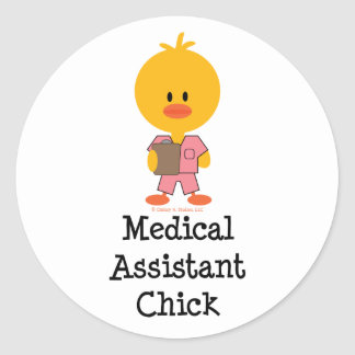 Medical Assistant Chick Stickers