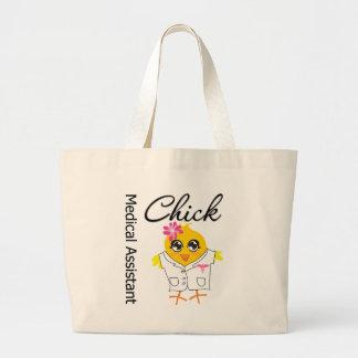 Medical Assistant Chick v2 Large Tote Bag