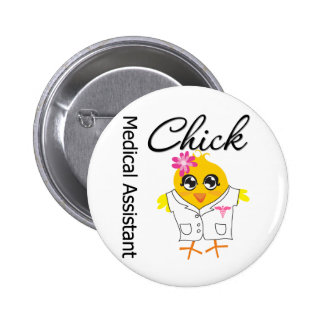 Medical Assistant Chick v2 Pinback Button