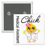 Medical Assistant Chick v2 Pinback Buttons