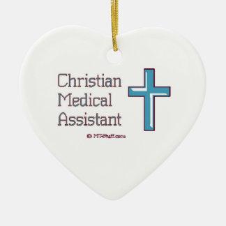 Medical Assistant - Christian Cross Ceramic Ornament