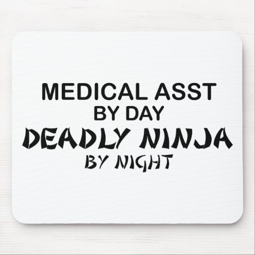 Medical Assistant Deadly Ninja Mouse Pad