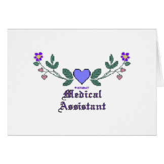 Medical Assistant P Crossstitch Greeting Card