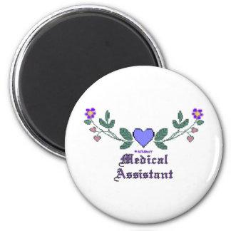 Medical Assistant P Crossstitch Magnet