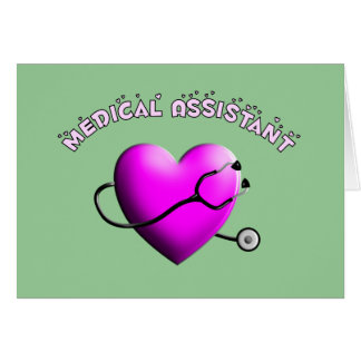Medical Assistant PINK HEART Design Gifts Greeting Card