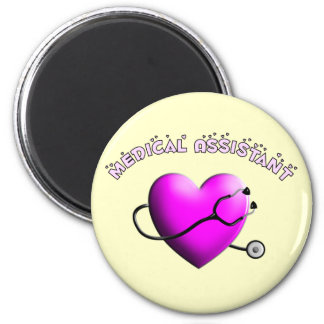 Medical Assistant PINK HEART Design Gifts Magnet