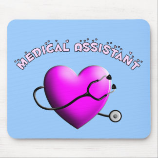 Medical Assistant PINK HEART Design Gifts Mouse Pad