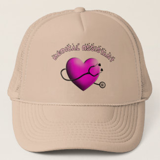 Medical Assistant PINK HEART Design Gifts Trucker Hat