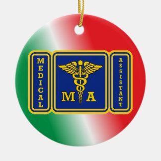 Medical Assistant Shield Custom Ceramic Ornament