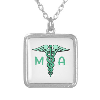 MEDICAL ASSISTANT SILVER PLATED NECKLACE