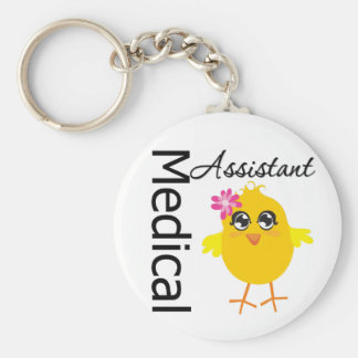 Medical Assistant v3 Basic Round Button Keychain