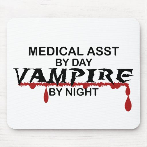 Medical Assistant Vampire by Night Mouse Pad
