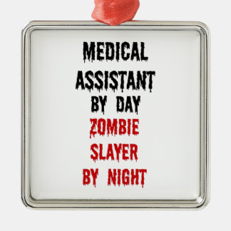 Medical Assistant Zombie Slayer Christmas Tree Ornament