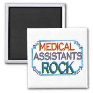 Medical Assistants Rock 2 Inch Square Magnet