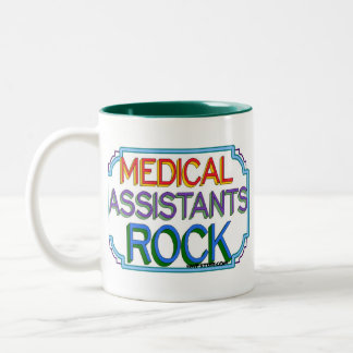 Medical Assistants Rock Two-Tone Coffee Mug