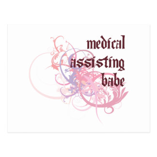 Medical Assisting Babe Postcard