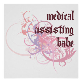 Medical Assisting Babe Poster