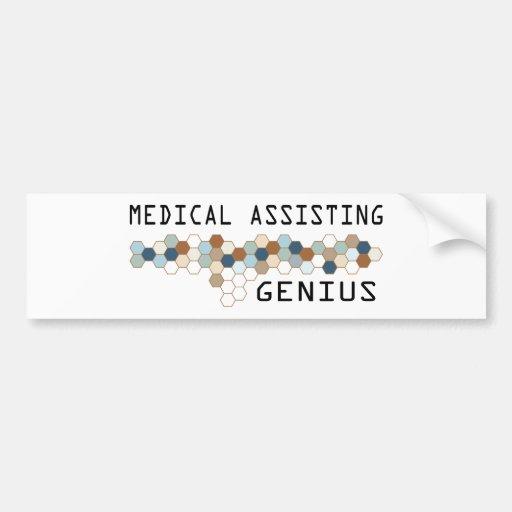 Medical Assisting Genius Car Bumper Sticker