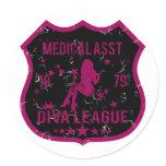Medical Asst Diva League Classic Round Sticker