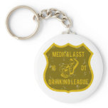 Medical Asst Drinking League Keychain