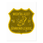 Medical Asst Drinking League Postcard